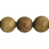 Bead-brazil Sandalwood Round 8In 18mm Light Green
